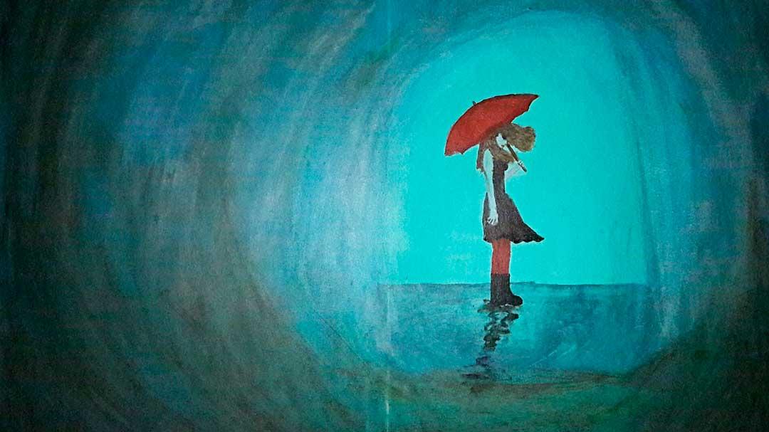 Девушка под зонтиком. Женская уверенность. Виктория Браткова